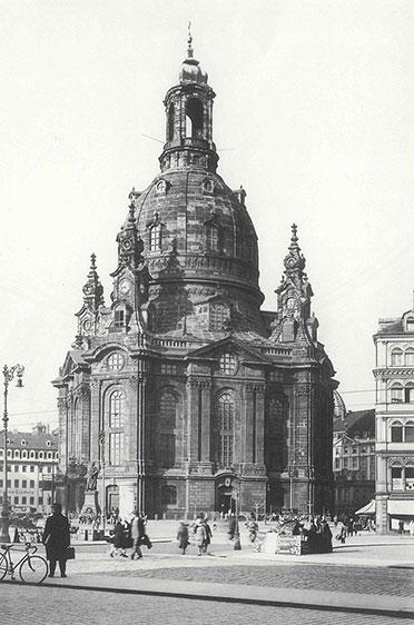 Historische Aufnahme der Dresdner Frauenkirche
