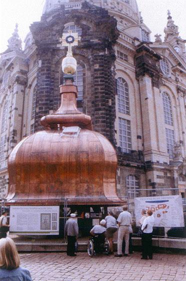 Haube mit Turmkreuz (22. Juni 2004)
