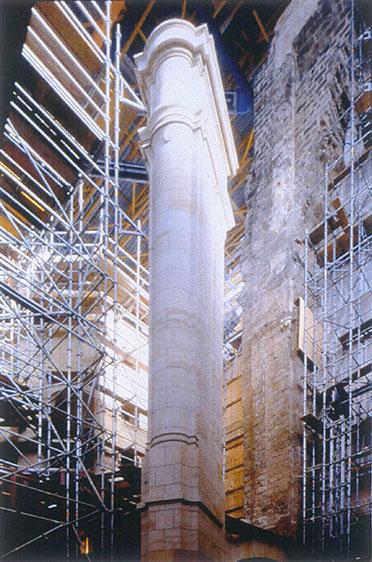 Nordöstlicher Chorpfeiler (Dezember 1998)