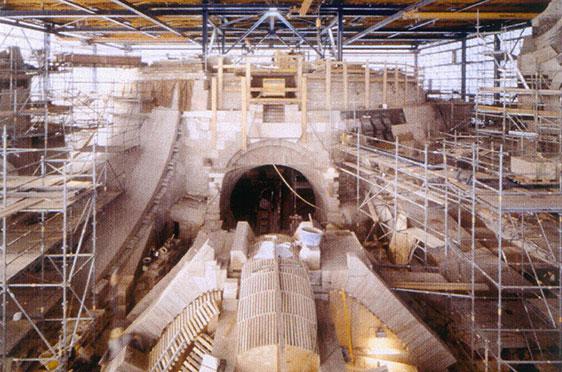 Kuppelanlauf und Chordach (Januar 2002)