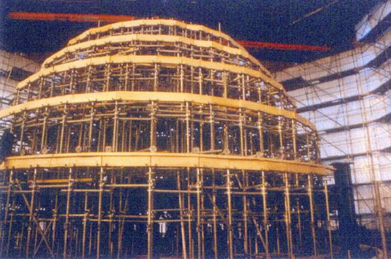 Lehrgerüst für Hauptkuppel (9. Dezember 2002)