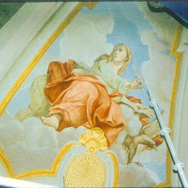 Kuppelbild des Evangelisten Johannes (Oktober 2002)