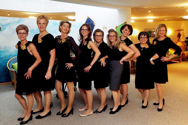 Mitarbeiterinnen bei der Jubiläumsfeier im KWA Albstift Aalen