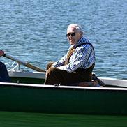 Zwei passionierte Fischer: Tobias Rixner (links) und Walter Ecker auf dem Tegernsee