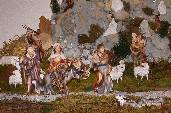 Weihnachtskrippe im KWA Stift Rupertihof in Rottach-Egern