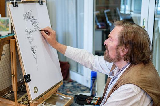 Gernot Hellweg porträtierte alle, die dazu Lust hatten. So viel sei verraten: Er hatte viel zu tun.