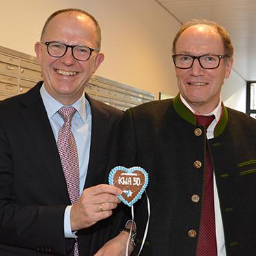 KWA Vorstände Dr. Stefan Arend (links) und Horst Schmieder