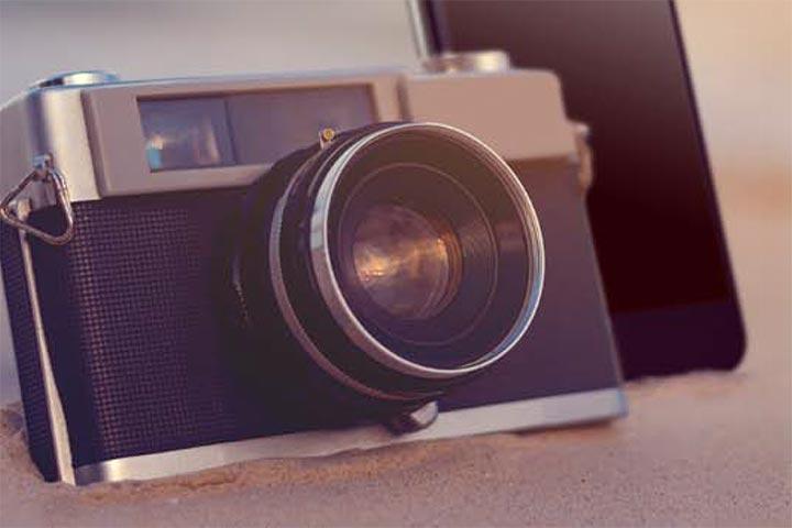 Urlaubstourismus Fotoapparat