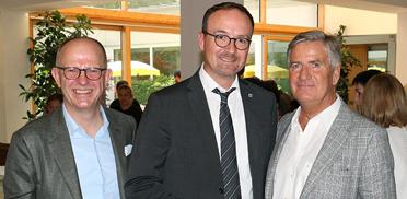 Dr. Stefan Arend (KWA Vorstand), Ulrich Burchardt (OB der Stadt Konstanz), Wolf-Dieter Krause (KWA Aufsichtsrat) (von links)